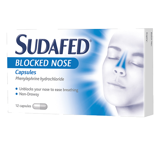 SUDAFED® Blocked Nose Capsules