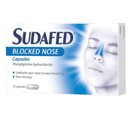 SUDAFED® Blocked Nose Capsules