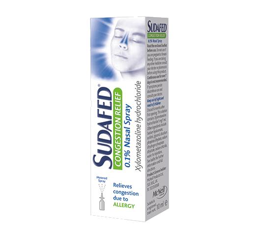 SUDAFED® Congestion Relief Nasal Spray
