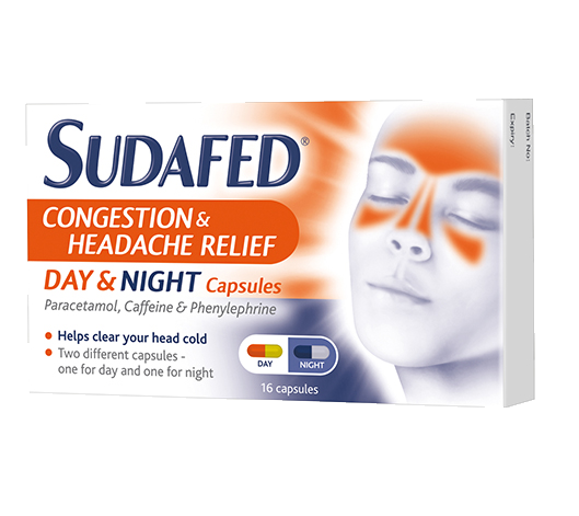 SUDAFED® Congestion & Headache Relief Day & Night Capsules