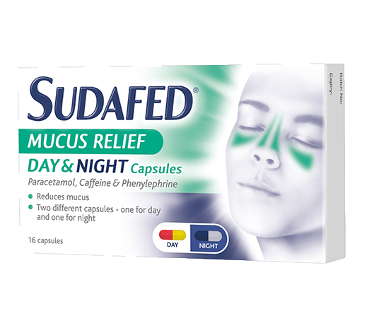 SUDAFED® Mucus Relief Day and Night Capsules