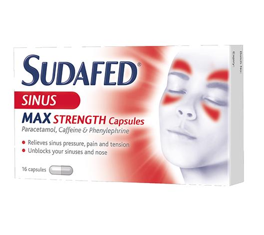 SUDAFED® Sinus Max Strength Capsules