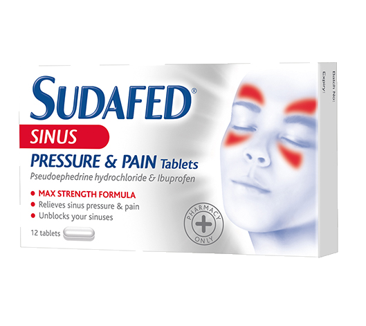 SUDAFED® Sinus Pressure & Pain Tablets
