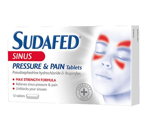 SUDAFED® Sinus Pressure & Pain Tablets