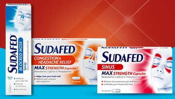 SUDAFED® Congestion, Flu & Cold Product Range